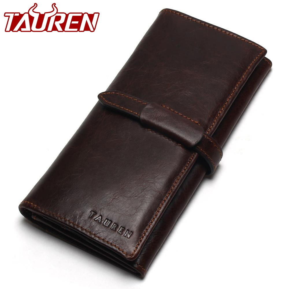 New Luxury Brand 100% Top Genuine Cowhide Leather High Quality Men Long Wallet Coin Purse Vintage Designer Male Carteira Wallets ivotkova top quality cow genuine leather men wallets fashion splice purse dollar bag price carteira masculina free shipping gift