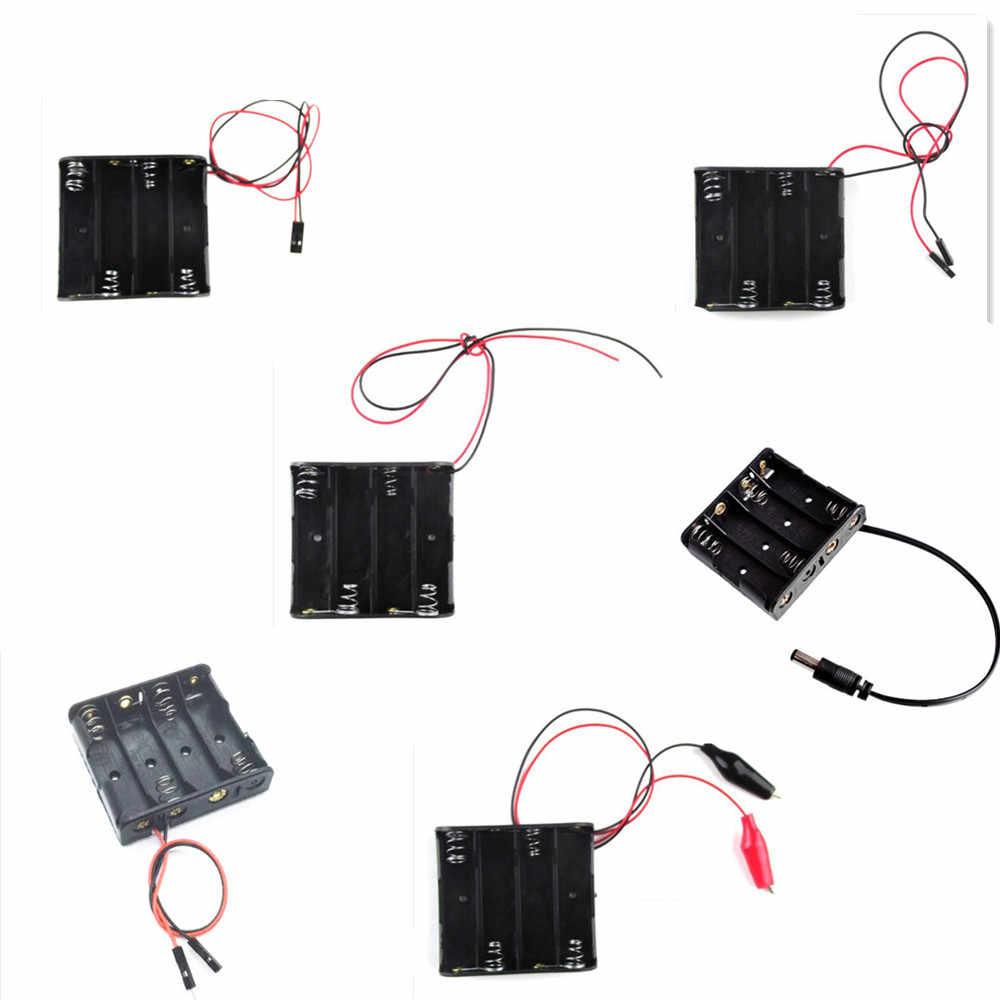 Avec fil 4 section 5th batterie boîte expérience scientifique accessoires avec DuPont ligne pince crocodile 5.5*2.1 DC tête