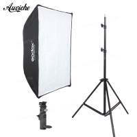 GODOX 50*70cm Umbrella softbox with Light stand Flash bracket kit for Speedlight Flash Studio flash Hot shoe bracket