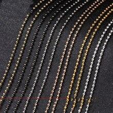 5 metros de largura 1.5mm 2mm 2.4mm ouro prata cor bola corrente redonda bola contas correntes para colar pulseira jóias acessórios