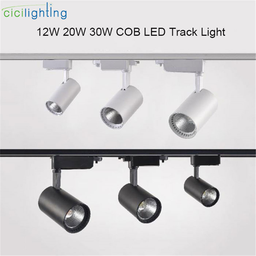 Modern LED Track Light 12W 20W 30W 220V Clothing Shop Windows Showrooms Exhibition Spotlight COB LED Ceiling Rail Spot Lamp ...