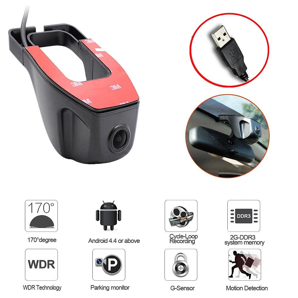 2018 Nouveau adas USB Voiture DVR Caméra Conduite Enregistreur HD 720 p Vidéo Enregistreur Pour Android 6.0 7.1 4.4 DVD GPS Lecteur DVR Caméra