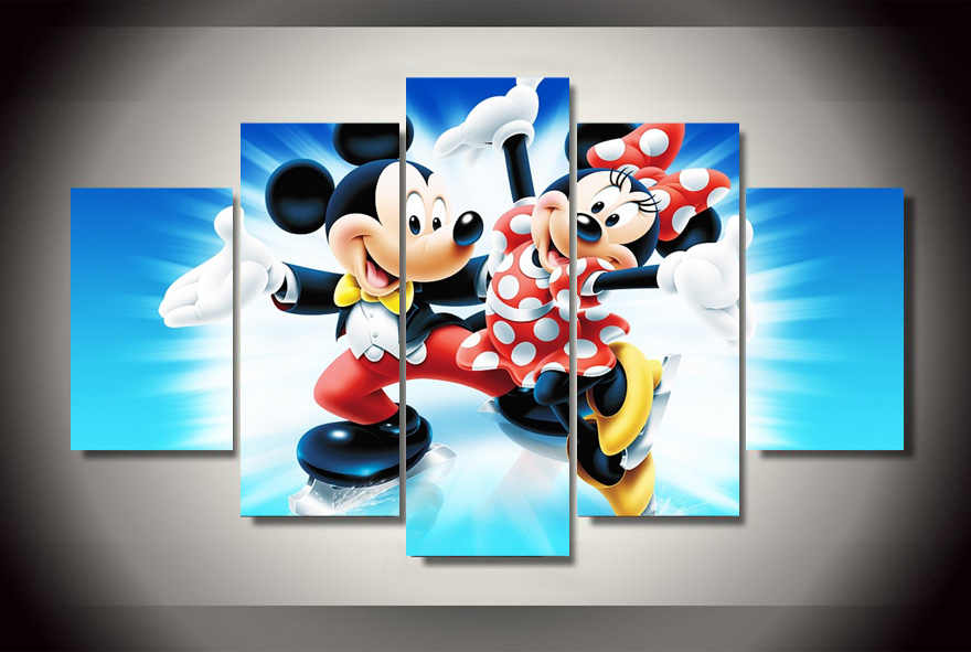 Detail Feedback Questions About Hd Printed Cartoon Mickey Mouse Oil