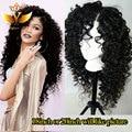 Brasileiro virgin peruca de cabelo humano encaracolado sem cola rendas frente encaracolado perucas de cabelo para mulheres negras barato curly cabelo humano full lace wigs