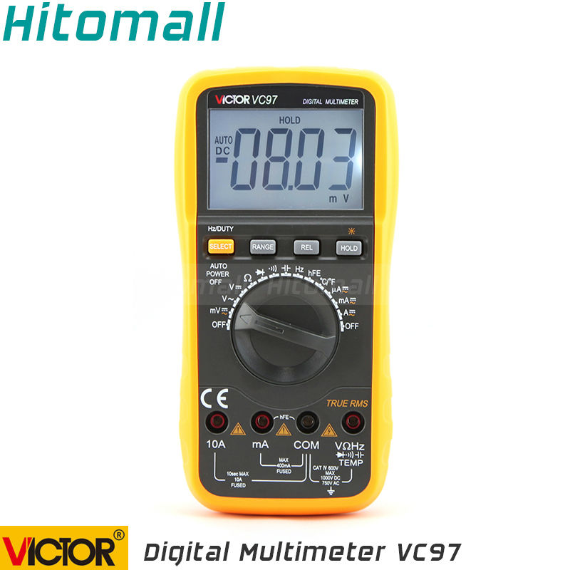 Professional True RMS Auto Range 4000 Counts Resistance Capacitance Frequency Temperature Victor Digital Multimeter VC97 статуэтка именинный ангелочек 3 года