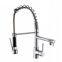 SSY Good Quality Wholesale And Retail Chrome Finished Pull Out Spring Kitchen Faucet Swivel Spout Vessel