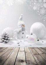 Белая Стена Снега 5x10ft Рождественские Фон Фотостудия Реквизит Винил Фотографии Фонов широкий 150×300 см