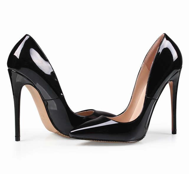 placeholder Brand 12CM High Heels Shoes Woman High Heels Pumps Wedding  Bridal Shoes Black Heels Women Shoes 8f79e7886a33