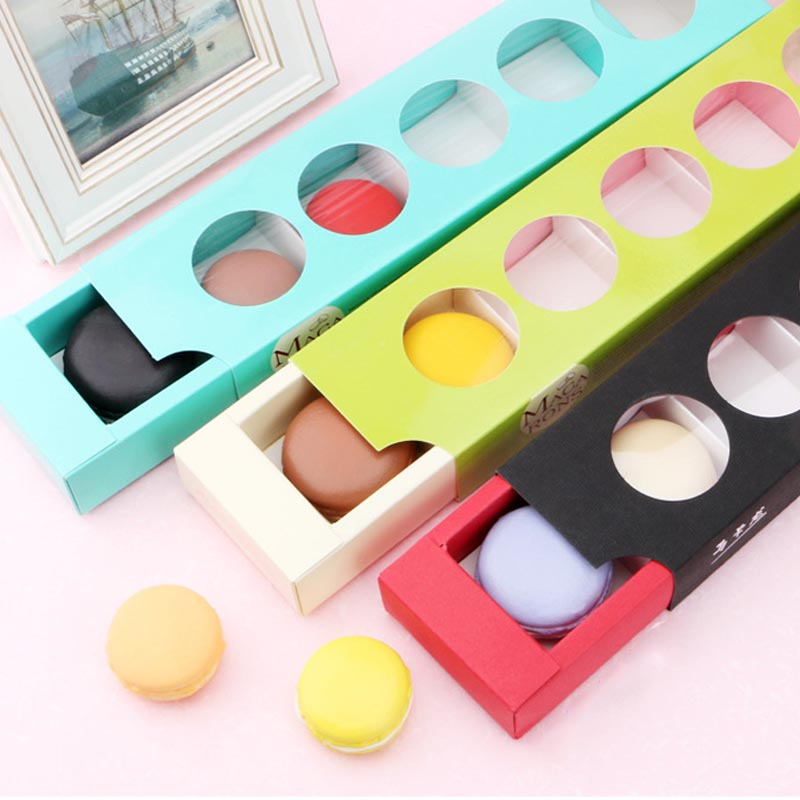 Exquisite Hollow Macaron Gift Box Cookie Chocolate Candy Package Baking Cake Dessert Box Wedding Party Decor Gift Paper Boxes