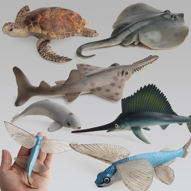 Ocean Animal Model Solid Emulation Shark Whale Action Figure Dolphin Christmas Learning Educational Kids Toys For Boys Children Street Price Toys & Hobbies