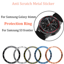 For Samsung Gear S3 Frontier/galaxy watch 46mm Anti Scratch Metal Sticker Protection Ring Watch Dial Bezel Adhesive Cover