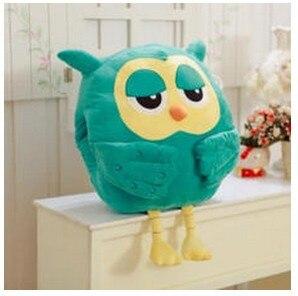 Gratis frakt Varm försäljning 1pc 45cm tecknade arvingar owl plysch varm håll kudde kudde två färger fylld leksak barn födelsedagspresent