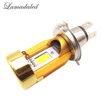 Super Bright Plug And Play H4 LED Motorcycle Headlight Bulbs 20W 2000LM High Low Beam 6500k