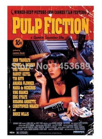Custom Pulp Fiction Cover Hd Wallpaper Pop Retro Poster Decor Best