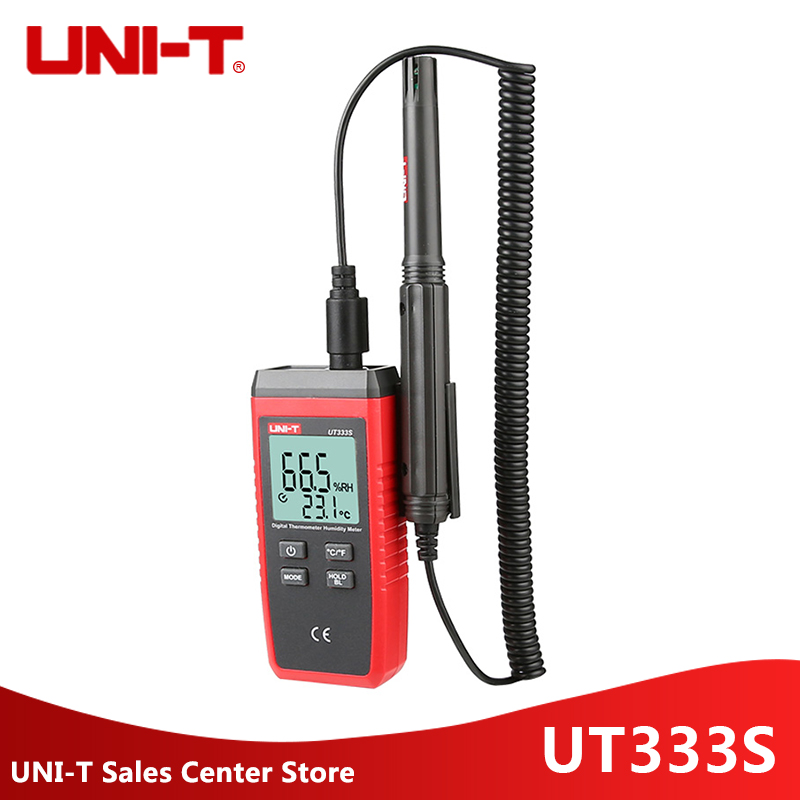 UNI T UT333S thermometer mini digital temperature humidity meter outdoor indoor Hygrometer LCD Backlight hygromet