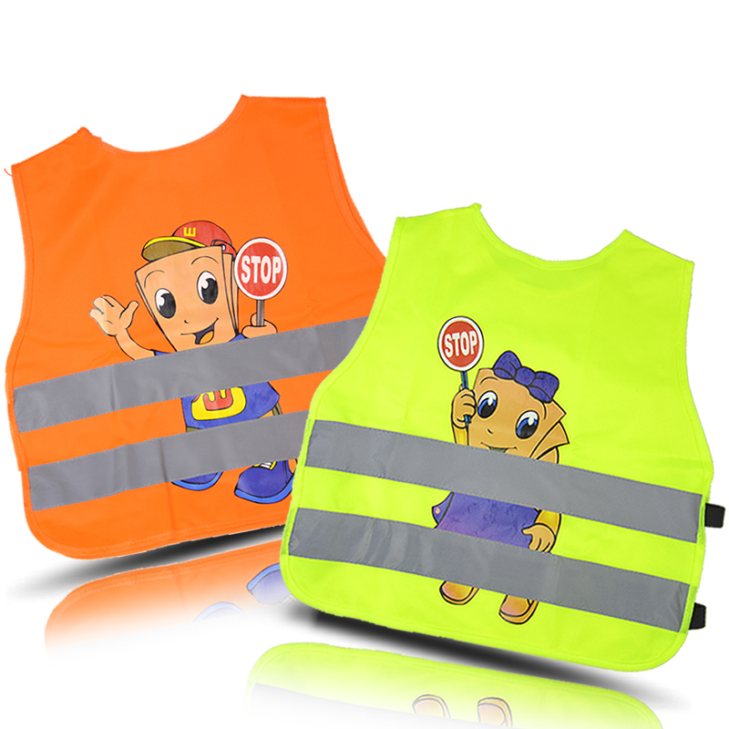 Children Reflective Vest, Clothes Provides High Visibility Day & Night For Running, Cycling, Warning Safety Chaleco Reflectante safety clothing chaleco reflectante 360 degrees high visibility neon belt running cycling sports outdoor clothes reflective vest