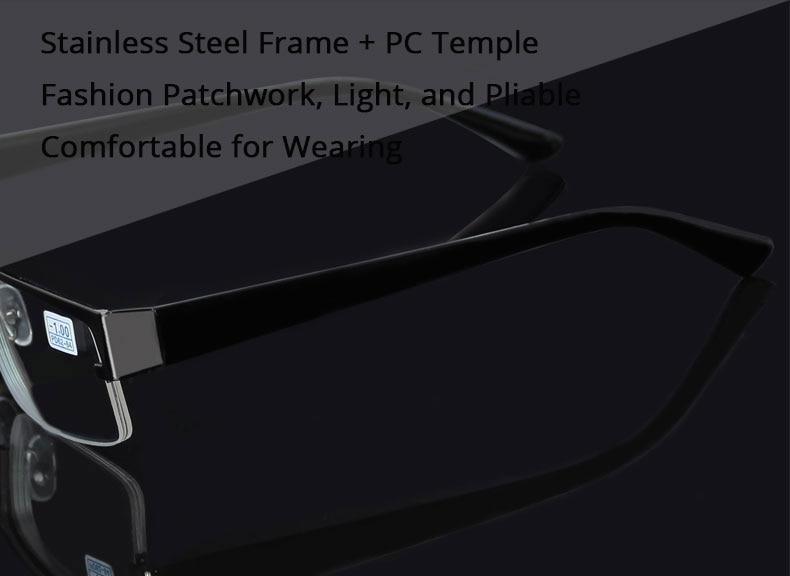 9ea8b09355 HTB1aAkVelyWBuNkSmFPq6xguVXaV Metal Stainless Myopia Glasses Computer Men  Eyeglasses Half Frame Spectacles Anti Blue Ray Eyeglass -