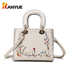 Luxury Handbags Women Bags Designer Women Embroidery Floral Bag High Quality PU Leather Female Shoulder Bag