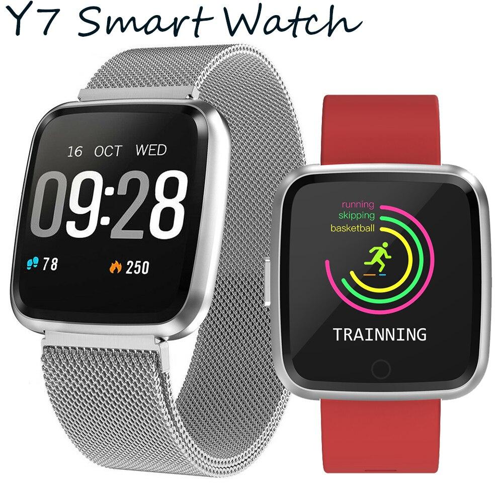Timethinker Y7 Smart Watch Men Sports Reloj Deportivo Blood Pressure Heart Rate Monitor Fitness Tracker Looks Like Fit Bit Versa