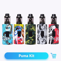 Vapor Storm 230 Puma E Cigarette Kit 200W with Hawk Atomizer Tank for 510 Thread Vaporizer Vape Liquid Box Mod Vaper Pen Kits
