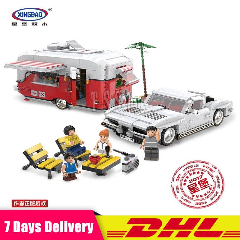 DHL XingBao 08003 2436Pcs The MOC Camper Set Educational Building Blocks Bricks Model Toys for Children Compatible LegoINGlys