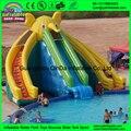 Venta caliente tobogán inflable para el verano/usado piscina tobogán gigante elefante diapositivas