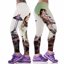 2016 Harajuku 3D Printed Muscle Printed Sport Leggings for Women Fitness Clothing Running Gym Leggins Adventure Time Legins BT02