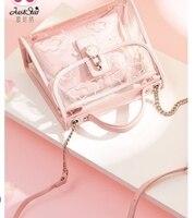 Принцесса сладкий Лолита Сумка лето маленькая сумочка cool girl прозрачные сумка мини цепь мать сумка Мода 171443