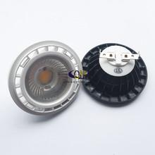Darmowa wysyłka 12V G53 GU10 ściemniania LED AR111 wbudowany lampa halogen 10W 15W GU10 Led AR111 światła ES111 reflektory LED AC85-265V tanie tanio YRANK Przemysłowe ROHS 5 Years Żarówki led NICKEL 110-240 v AR111 G53 QR111 ES111
