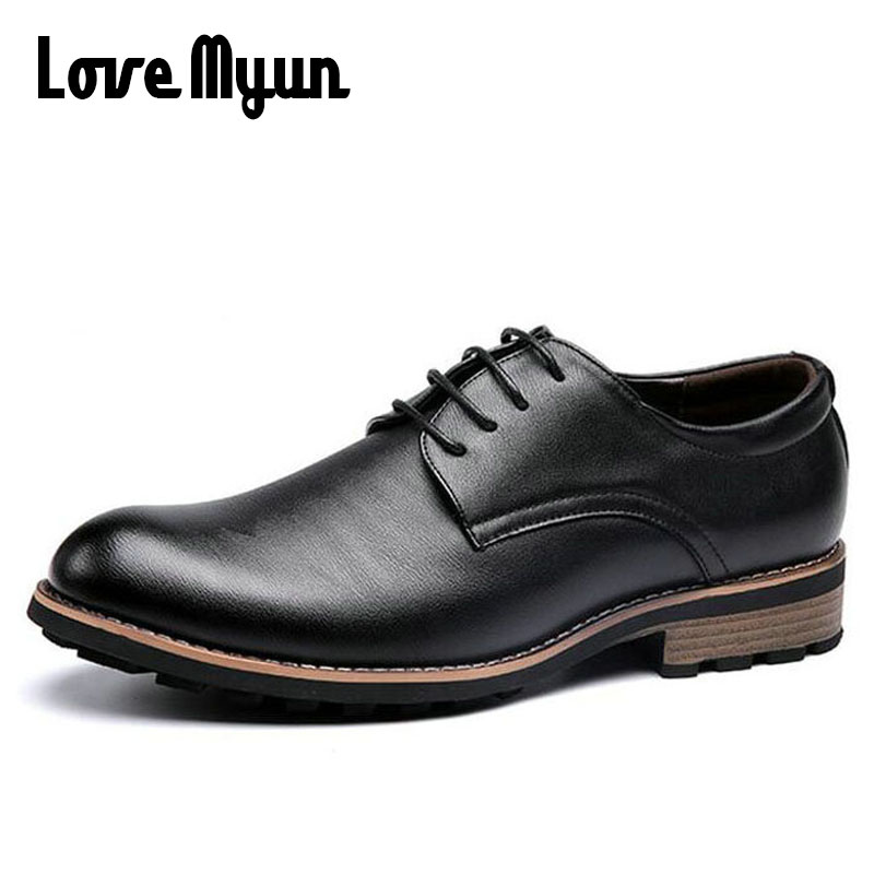 2017 brand new spring mens Business shoes Dress Wedding shoes fashion Casual shoes men lace up genuine leather shoes WA-08 2016 new british style brand classic men s oxfords shoes mens dress business shoes fats 100% genuine leather shoes free shipping