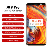 Leagoo M9 Pro 18:9 Full Screen 4G Smartphone Android 8.1 MT6739V 5.72 Quad Core 2GB RAM 16GB ROM 13MP Face Unlock Mobile Phone