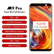 Leagoo M9 Pro 18:9 полный экран 4G Смартфон Android 8,1 MT6739V 5,72 «четырехъядерный 2 Гб ОЗУ 16 Гб ПЗУ 13MP лицо разблокированный мобильный телефон