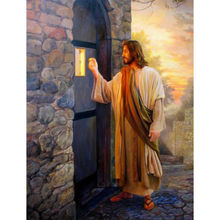 Jesus knocking Painting 5D Diamond Painting Embroidery Full Square Home Decoration Round Drill Mosaic Religious Cross Stitch 5d diamond embroidery religious jesus full square round drill diamond painting mosaic cross stitch home decoration