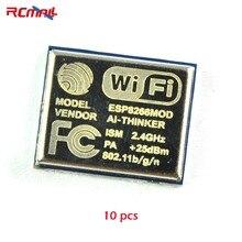 10 шт. RCmall ESP8266 Серийный беспроводной wifi модуль приемопередатчик 2,4G 25dBm 802.11b/g/n ESP-06 FZ1216* 10