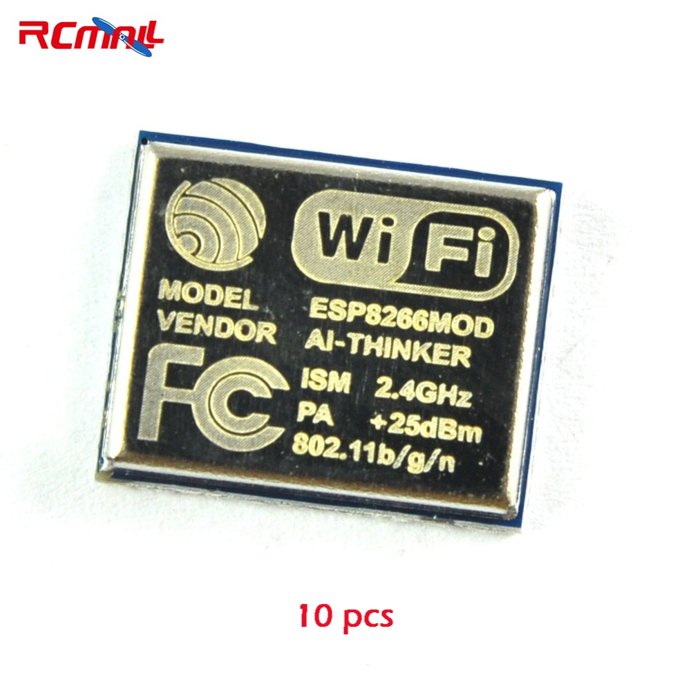 10 pcs RCmall ESP8266 Serial Wireless WIFI Module Transceiver 2.4G 25dBm 802.11b/g/n ESP-06 FZ1216*10 image