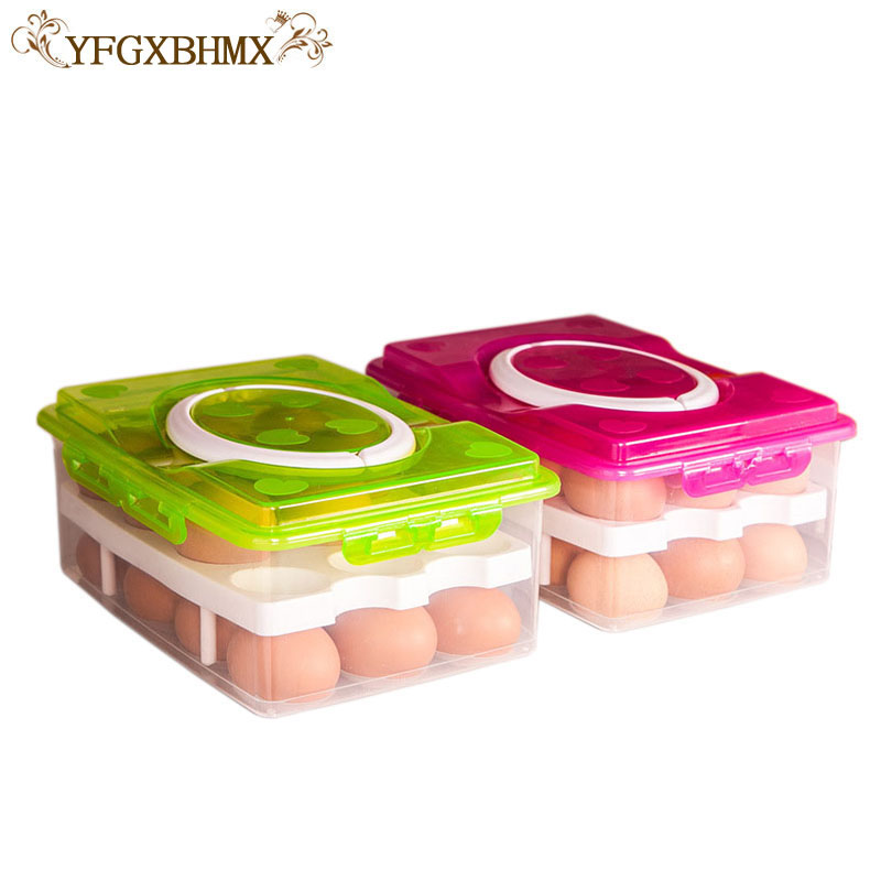 YFGXBHMX 24 grid egg box organizer of food containers convens