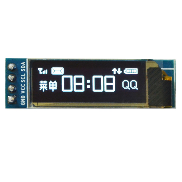 1Pc 0.91 inch 128x32 I2C IIC Serial Blue/ White OLED LCD Display Module 0.91 12832 SSD1306 LCD Screen for Arduino