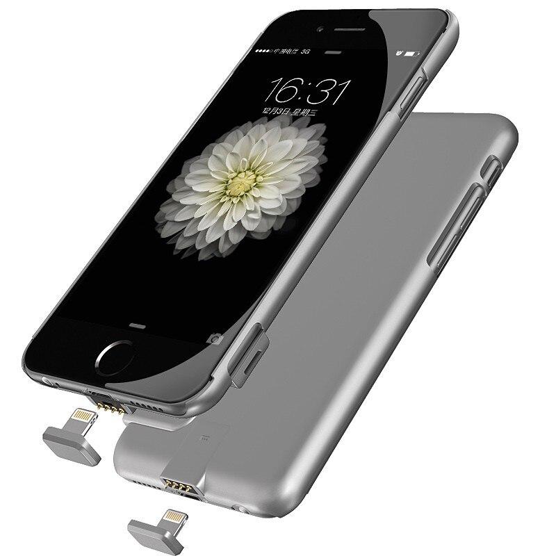 Per iphone 6 batteria esterna caricatore portatile della banca di potere della copertura per il caso di iphone 6 s plus backup charger power bank ...