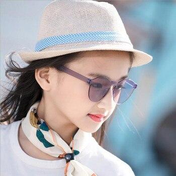 KDDOU fashion reflective color film men and women baby glasses brand designer girl sunglasses  Integral spectacle frames boy