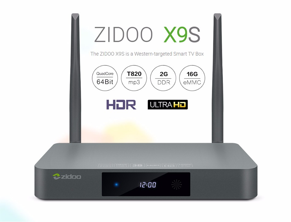 ZIDOO X9S Android 6.0 TV Box Realtek RTD1295 Quad Core 2G-16G HDMI OUT-IN KODI Smart TV Russian Hebrew IPTV Europe Media Player 1