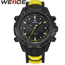 WEIDE WH6406 Mens Quartz Watches Top Brand Luxury Alarm Clock Waterproof Sport Wristwatch Analog Digital Electronic LCD Watch все цены