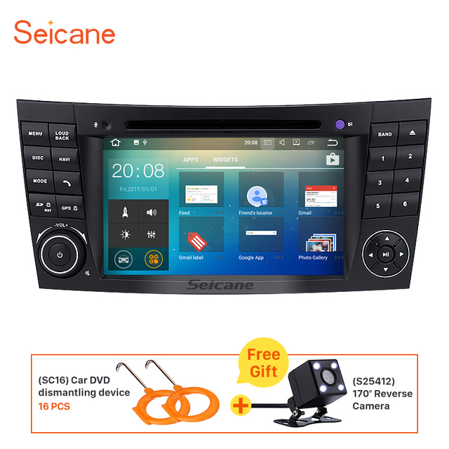 Seicane 7 android 71 car radio dvd player for 2002 2008 mercedes seicane 7 android 71 car radio dvd player for 2002 2008 mercedes benz e fandeluxe Images
