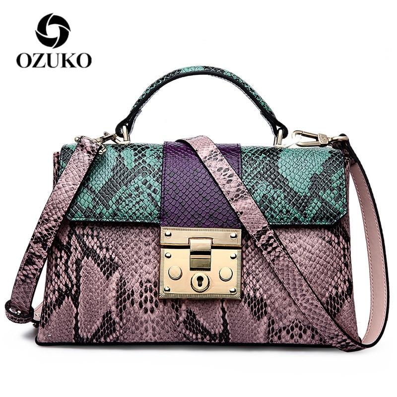 OZUKO genuine leather crossbody bags for women luxury ladies handbag top quality should bag bolsa feminina цена