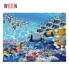 WEEN Seabed Fishes Diy Painting By Numbers Abstract Ocean World Oil Painting On Canvas Cuadros Decoracion Acrylic Wall Art 2018 цена и фото