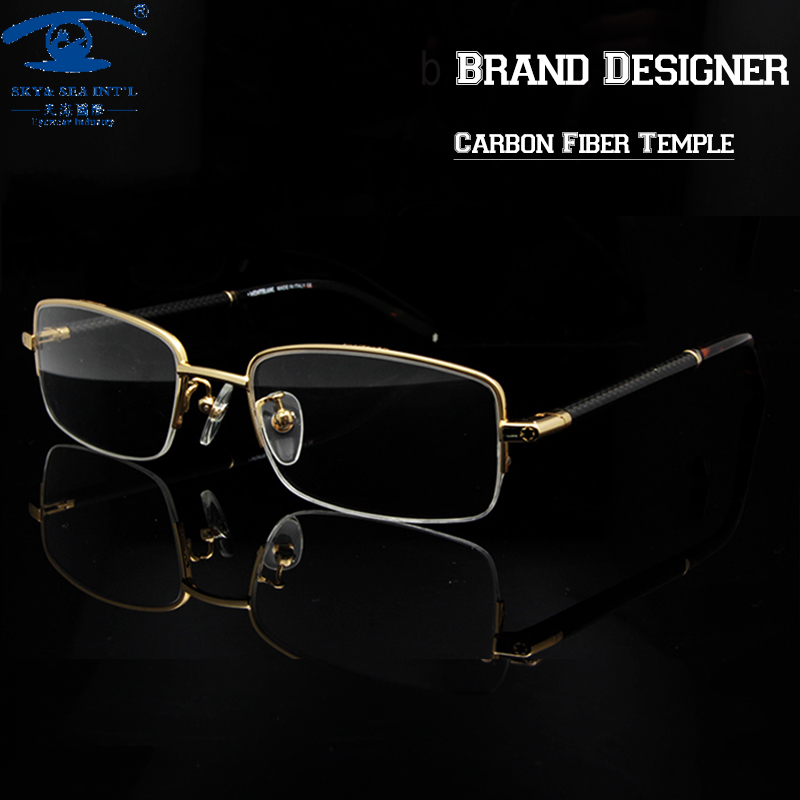 97d31fd515b Brand Designer Mens Eyewear Frames Fashion Clear Lens Eye Glasses Frames  for Men Spectacle Frame Rx Myopia Glass-in Eyewear Frames from Women s  Clothing   ...