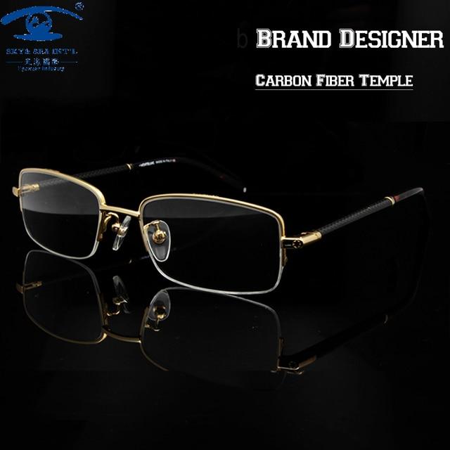 Brand Designer Mens Eyewear Frames Fashion Clear Lens Eye Glasses Frames for Men Spectacle Frame Rx Myopia Glass