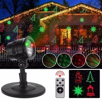 ZINUO De Noël Laser Projecteur Haute Qualité De Noël Rouge et Vert Lumières Laser à RF Télécommande Vacances Décorations