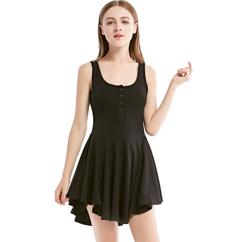 2018 Summer Autumn Sexy Dress Halter Mini Sleeveless Strechable Slim Black Halter Dress Women High Quality Shi ...