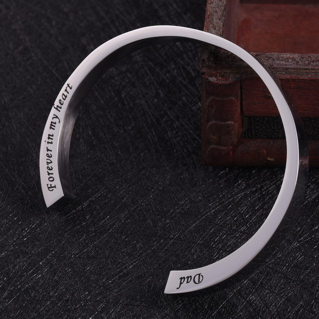 Dad Forever In My Heart Urn Bangle