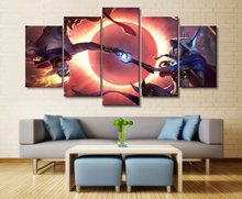 League of Legends Game 5 Pieces Canvas Art Decorative Painting Wall  Home Decoration Living Room